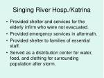 singing river hosp katrina