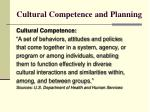cultural competence and planning