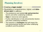 planning involves