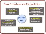 bank procedures and reconciliation13