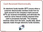 cash received electronically
