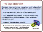 the bank statement