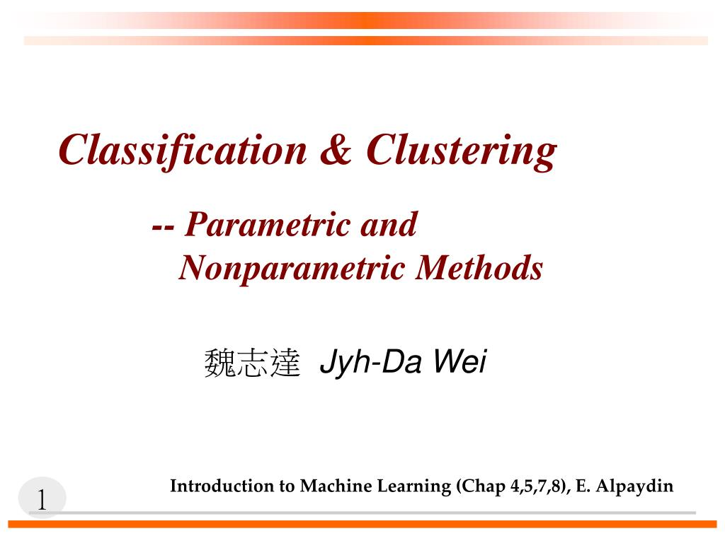 classification clustering l.