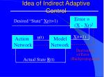 idea of indirect adaptive control