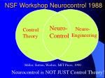 nsf workshop neurocontrol 1988