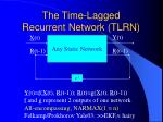 the time lagged recurrent network tlrn