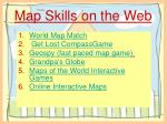 map skills on the web