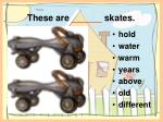 these are skates
