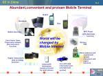abundant convenient and protean mobile terminal