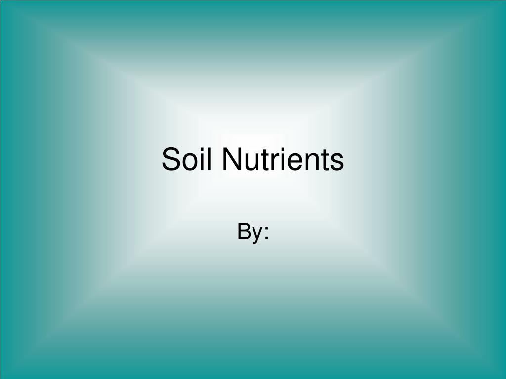 soil nutrients l.