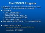 the focus program