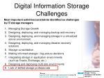digital information storage challenges
