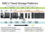 emc s tiered storage platforms