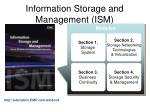 information storage and management ism