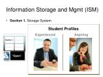 information storage and mgmt ism