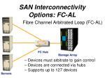 san interconnectivity options fc al