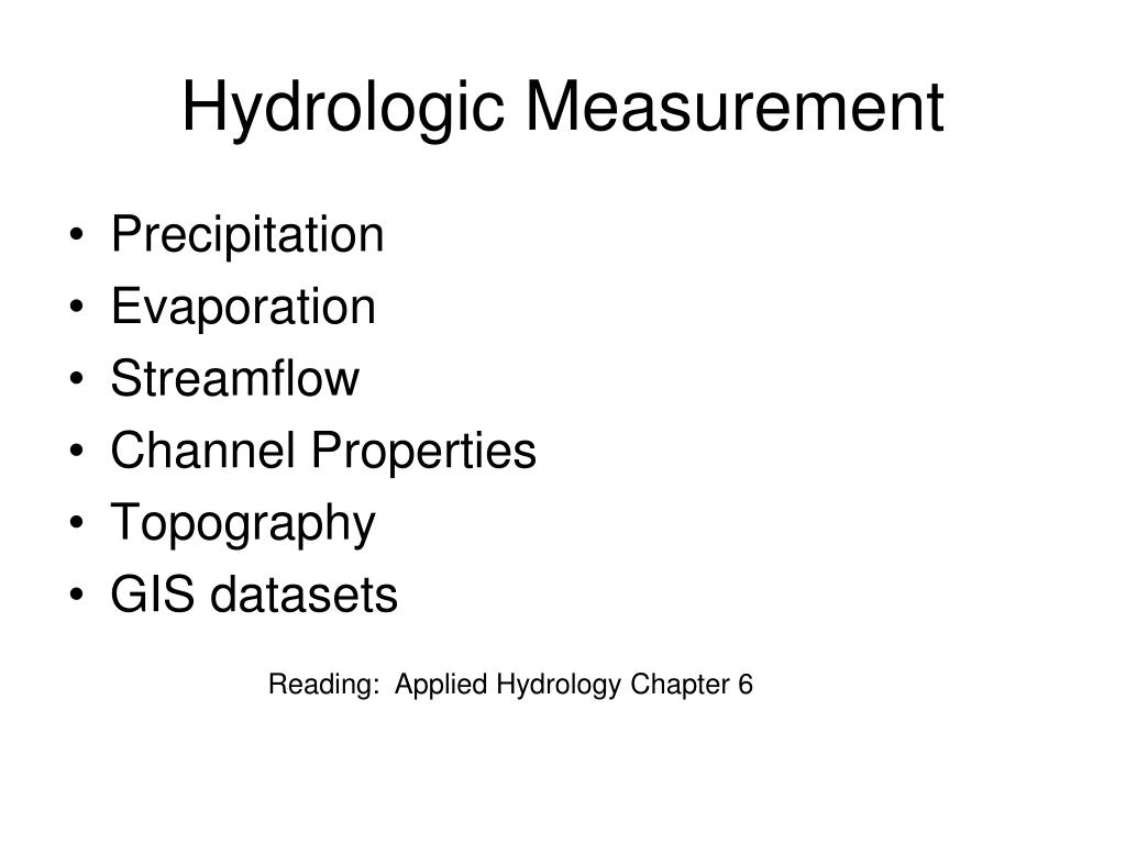hydrologic measurement l.