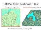 nhdplus reach catchments 3km 2