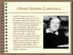 about jerome lawrence