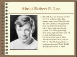 about robert e lee