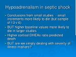 hypoadrenalism in septic shock23