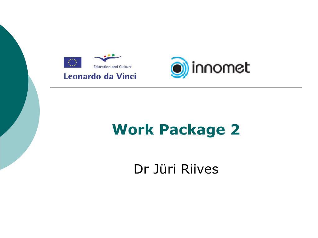 work package 2 dr j ri riives l.