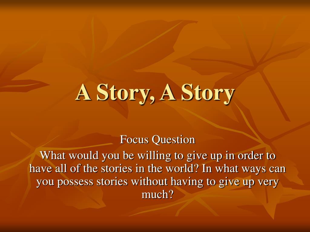 a story a story l.