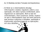 as 10 medidas do bom tomador de empr stimos12