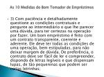 as 10 medidas do bom tomador de empr stimos9