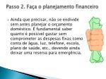 passo 2 fa a o planejamento financeiro