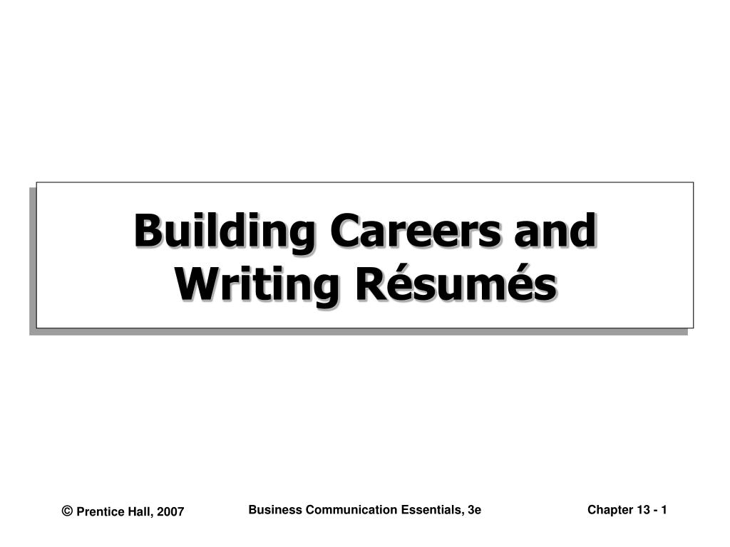 building careers and writing r sum s l.