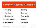 common r sum problems