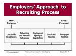 employers approach to recruiting process