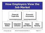how employers view the job market