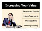 increasing your value