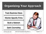 organizing your approach