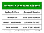 printing a scannable r sum