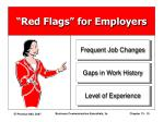 red flags for employers