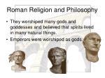 roman religion and philosophy