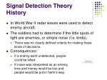signal detection theory history