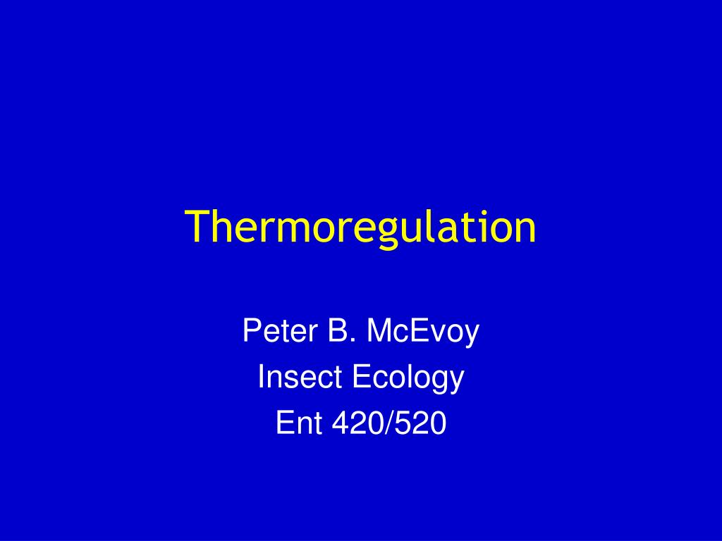 thermoregulation l.