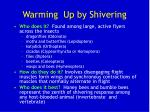 warming up by shivering