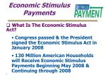 economic stimulus payments