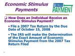 economic stimulus payments10