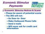 economic stimulus payments20