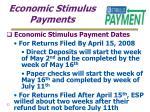 economic stimulus payments22