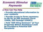 economic stimulus payments25