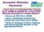 economic stimulus payments29