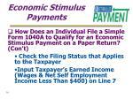 economic stimulus payments30