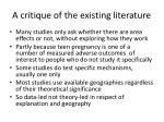 a critique of the existing literature